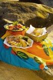 Picknick på stranden Royaltyfri Fotografi