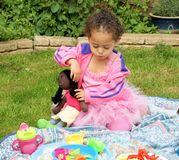 Picknick in roze Royalty-vrije Stock Fotografie