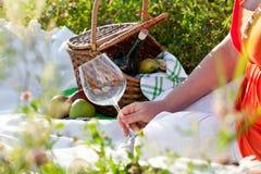 Picknick am sonnigen Sommertag stockfotografie