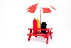 Picknick-Tabellen-Würzen Lizenzfreies Stockfoto
