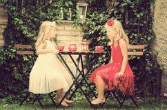 Picknick in tuin Stock Afbeeldingen