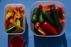 picknick Utomhus- matlagning Mat arkivfoto