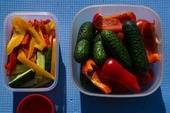 picknick Utomhus- matlagning Mat arkivbild