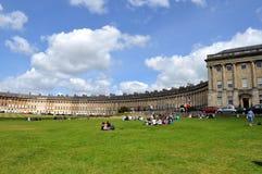 Picknicker durch den königlichen Halbmond Lizenzfreie Stockfotografie