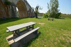 Picknickgebied in Frankrijk Stock Foto's