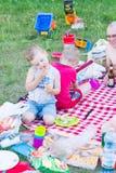 Picknicking children Royalty Free Stock Photos