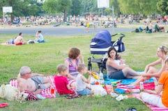 Picknicking people Royalty Free Stock Image