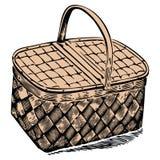 Picknickkorb Lizenzfreie Stockfotografie