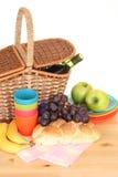 Picknickkorb Stockfotos