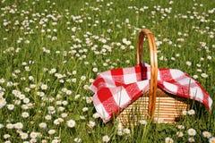 Picknickkorb Stockfoto
