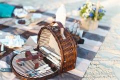 Picknickkorg Royaltyfri Fotografi