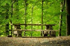 Picknicklijst Royalty-vrije Stock Afbeeldingen