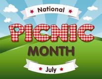 Picknickmaand, Juli de V.S. Stock Foto