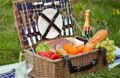 Picknickmand Royalty-vrije Stock Afbeelding