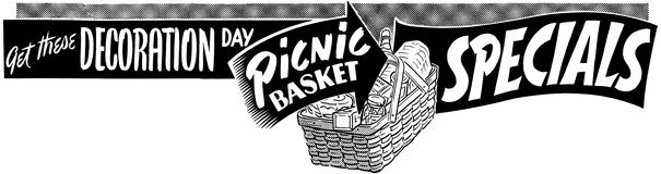 Picknickmand Specials Royalty-vrije Stock Afbeeldingen