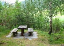 picknickställe Arkivfoton