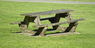 Picknicktisch Stockbild