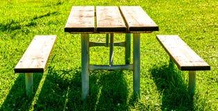 Picknicktisch Stockfotografie