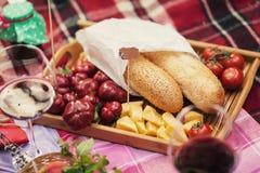 Picknickwolldecke Stockbilder