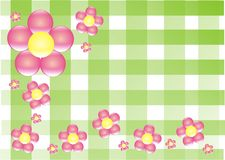 Picknik flowers. Green cubs pink flovers picknik time Stock Images