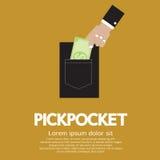 Pickpocket royalty free illustration
