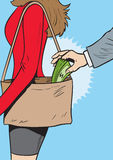 pickpocket Fotografia Stock