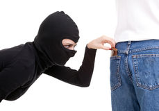 Pickpocket in action Stock Photos