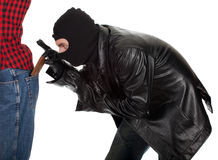 Pickpocket in action Royalty Free Stock Images