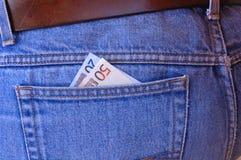 Pickpocket's delight - Euros stock photo