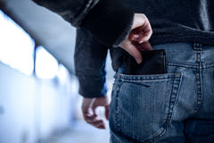 Pickpocket royalty free stock photo