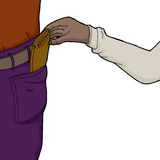 Pickpocket Taking Wallet Royalty Free Stock Photography
