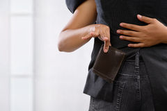 Pickpocket the wallet Stock Photography