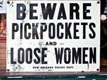 Pickpockets et femmes lâches Images libres de droits