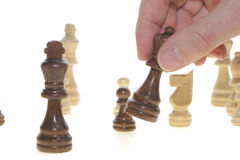 Picks up the chess Stock Photography
