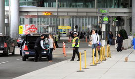 Pickup area at the Toronto Airport Royalty Free Stock Photos