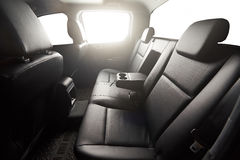Pickup back leather seat Royalty Free Stock Photo