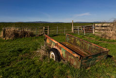 Pickup Bed. Old pick up bed trailer on old farm Stock Photography