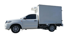 Pickup car with storage room Stock Photos