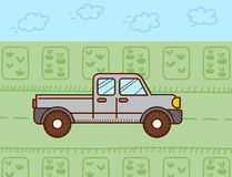 Pickup car. Vector illustration Stock Photography