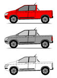 Pickup cars vector Royalty Free Stock Image