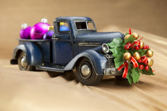 Pickup with christmas decoration Royalty Free Stock Images
