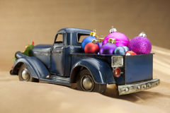 Pickup with christmas decoration Royalty Free Stock Photo