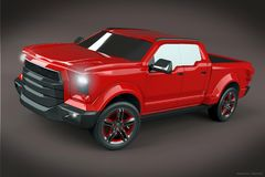 Pickup concept vehicle design Royalty Free Stock Photos