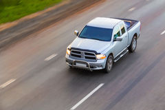 Pickup goes on highway royalty free stock photography