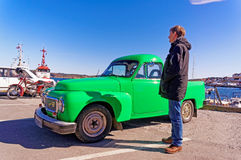 Pickup green volvo Royalty Free Stock Photos