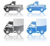 Pickup and small truck. Stock Images