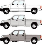 Pickup truck. Vectored EPS of a generic pickup truck in 3 shades Royalty Free Stock Photography