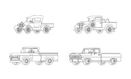 Pickup Truck Classic Design Models Collection Stock Photo