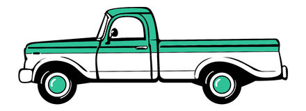 Pickup truck. Classic truck. Isolated vector illustration Stock Photography