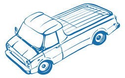 Pickup truck. Classic truck. Isolated vector illustration Royalty Free Stock Photo